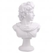 Escultura Decorativa Busto Romano Branco em Resina 44,5cm NK0042 BTC