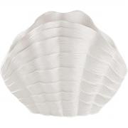 Escultura Decorativa Concha em Poliresina Branca 20cm 13278 Mart
