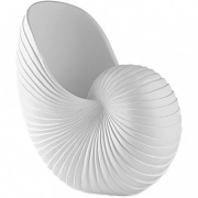 Escultura Decorativa Concha em Poliresina Branca 26,5cm 13275 Mart