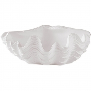 Escultura Decorativa Concha em Poliresina Branca 34,5cm 13276 Mart