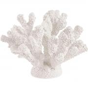 Escultura Decorativa Coral Branco em Poliresina 14cm 13425 Mart