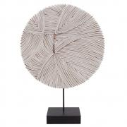 Escultura Decorativa de Madeira Branco 35cm KU0036 BTC