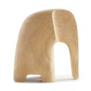 Escultura Decorativa Elefante em Poliresina Estilo Madeira 17,5cm 12788 Mart