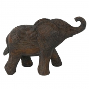 Escultura Decorativa Elefante em Resina Bronze 13cm PO0098 BTC