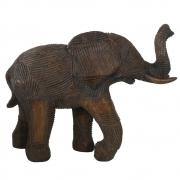 Escultura Decorativa Elefante em Resina Bronze 17cm PO0097 BTC