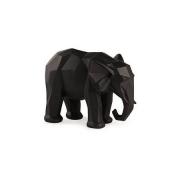 Escultura Decorativa Elefante Preto em Poliresina 15cm 13262 Mart