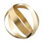 Escultura Decorativa em Metal Dourado 22cm 13008 Mart