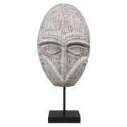 Escultura Decorativa Mascara Etnica de Resina 43cm