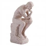 Escultura Decorativa O Pensador em Resina 25cm NA5002 BTC