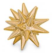 Escultura Decorativa Ouriço Cerâmica Dourado 16cm 08722 Mart