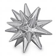 Escultura Decorativa Ouriço Cerâmica Prata 16cm 08724 Mart