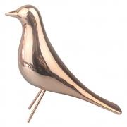 Escultura Decorativa Pássaro de Cerâmica Rose Gold 15,5cm DN0061 BTC