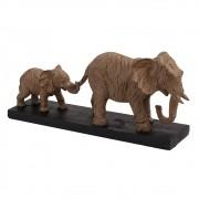 Escultura Elefante Decorativo de Resina com Base
