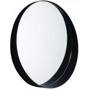 Espelho Redondo Preto em Metal 10511 MART