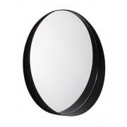 Espelho Redondo Preto em Metal 60cm 10509 MART