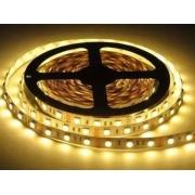Fita LED 12V 3000K Luz Amarela IP20 5 Metros 4,8W/M