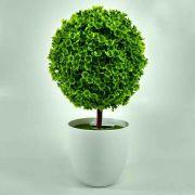 Flor Bonsai Topiara C/ Pote Cor Verde Artificial Permanente 25CM 35049-001