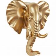 Gancho de Parede Elefante em Resina Dourado 13742 Mart