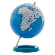 Globo Terrestre Mapa Mundi Decorativo Em Plástico Azul 20CM BTC