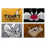 Jogo Americano C/ 4 Peças Looney Tunes Faces BTC