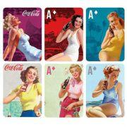 Jogo De Baralho Luxo Coca Cola Pin Up Brown Lady Colorido 25739