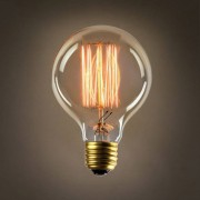 Kit 02x Lampada Vintage - Filamento De Carbono G80 40w 127v E27