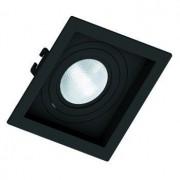 Kit 03x Spot Embutir Par 20 Quadrado Face Recuada Direcionavel Preto