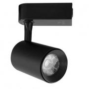 Kit 05 Spots de Trilho Preto LED 7W 4000K Bivolt DS7071 Delis