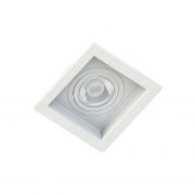 Kit 10 Spots Embutir Recuado Branco + 10 Lâmpadas MR16 Dicroica Led 4,8W 2700K (Luz Amarela)