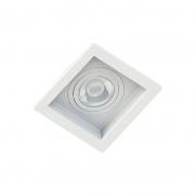 Kit 10 Spots Embutir Recuado Branco + 10 Lâmpadas MR16 Dicroica Led 4,8W 6500K (Luz Branca)