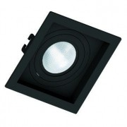 kit 12x Spot Embutir Par 20 Quadrado Face Recuada Direcionavel Preto
