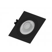 Kit 16x Spot Embutir Dicroica Mr16 Quadrado Face Plana