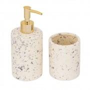 Kit 2 Peças Para Banheiro Cerâmica Areia 11758 Mart
