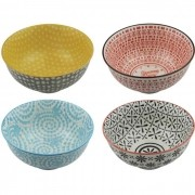 Kit 4 Bowls/Cumbuca De Porcelana Decorativo 12cm HP0007