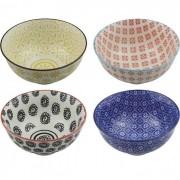 Kit 4 Bowls/Cumbuca De Porcelana Decorativo 12CM HP0008