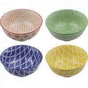 Kit 4 Bowls/Cumbuca De Porcelana Decorativo 12CM HP0009
