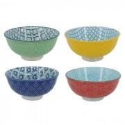 Kit 4 Bowls/Cumbuca De Porcelana Decorativo 12cm HP0013