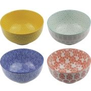 Kit 4 Bowls/Cumbuca De Porcelana Decorativo 16CM HP0001