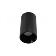 Kit 7x Plafon Spot Sobrepor Preto + Lâmpadas Led 4,8w 3000k