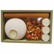 Kit Velas Decorativas Com Castiçal Cerâmica GR0010