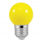 Lâmpada Bolinha Decorativa Amarela G45 E27 LED 3W 127V