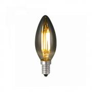 Lâmpada C35 Vela Fumê Filamento LED 4W 2400K E14 Bivolt