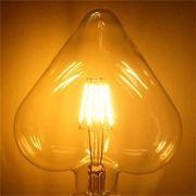 Lâmpada Filamento Led Coração 4W E27 Bivolt Retro Vintage