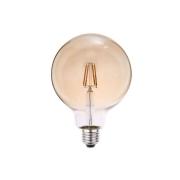 Lâmpada Filamento LED G125 E27 6W 2200K Bivolt Âmbar