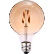 Lâmpada Filamento LED G95 E27 6W 2200K Bivolt Âmbar