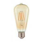 Lâmpada Filamento LED ST64 E27 6W 2200K Bivolt Âmbar