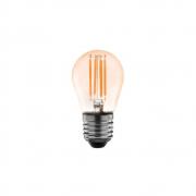 Lampada G45 Bolinha Ambar Filamento LED 4W 2400K E27 Bivolt