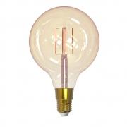Lâmpada Inteligente Filamento G125 E27 5W Dimerizável Smart 1800K a 2400K