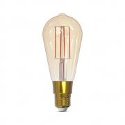 Lâmpada Inteligente Filamento ST64 E27 5W Dimerizável Smart 1800K a 2400K