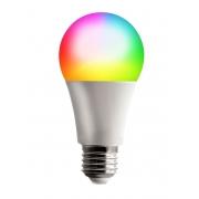 Lâmpada Inteligente RGB e Branca Bulbo A60 E27 9W Dimerizável Smart